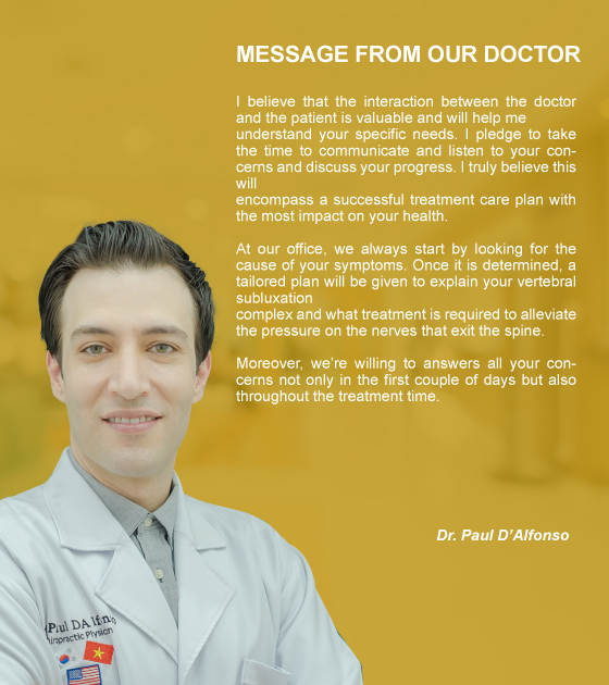 Message from our doctor